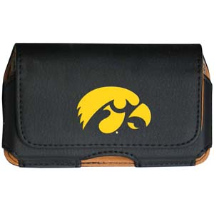Iowa Hawkeyes Cellphone Pouch - Keep you personal electronics safe with this Iowa Hawkeyes horizontal protective cellphone case with belt clip and easy flip front. Fits a variety of personal electronics like blackberries, Nano classics, and iTouch. Thank you for shopping with CrazedOutSports.com