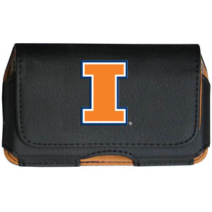 Illinois Fighting Illini Cell Pouch - Keep you personal electronics safe with this Illinois Fighting Illini horizontal protective case with belt clip and easy flip front. Fits a variety of personal electronics like blackberries, Nano classics, and iTouch. Thank you for shopping with CrazedOutSports.com