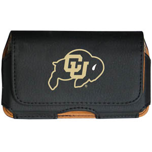 Colorado Buffaloes Cell Pouch - Keep your personal electronics safe with this Colorado Buffaloes horizontal protective case with belt clip and easy flip front. Fits a variety of personal electronics like blackberries, Nano classics, and iTouch. Thank you for shopping with CrazedOutSports.com
