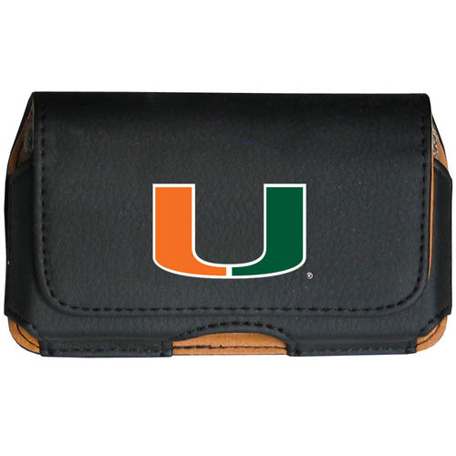 Miami Hurricanes Cell Phone Case - Keep you personal electronics safe with this horizontal protective Miami Hurricanes Cell Phone Case with belt clip and easy flip front. Fits a variety of personal electronics like blackberries, Nano classics, and iTouch. Thank you for shopping with CrazedOutSports.com