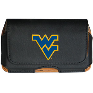 W. Virginia Cell Pouch - Keep you personal electronics safe with this horizontal protective case with belt clip and easy flip front. Fits a variety of personal electronics like blackberries, Nano classics, and iTouch. Thank you for shopping with CrazedOutSports.com