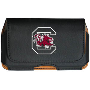 S. Carolina Cell Pouch - Keep you personal electronics safe with this horizontal protective case with belt clip and easy flip front. Fits a variety of personal electronics like blackberries, Nano classics, and iTouch. Thank you for shopping with CrazedOutSports.com