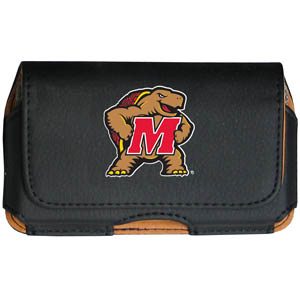 Maryland Terrapins Cell Pouch - Keep you personal electronics safe with this Maryland Terrapins Cell Pouch horizontal protective case with belt clip and easy flip front. Fits a variety of personal electronics like blackberries, Nano classics, and iTouch. Thank you for shopping with CrazedOutSports.com