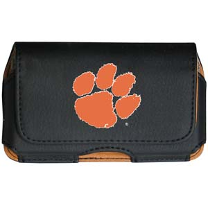 Clemson Tigers Cell Pouch - Keep your personal electronics safe with this Clemson Tigers horizontal protective case with belt clip and easy flip front. Fits a variety of personal electronics like blackberries, Nano classics, and iTouch. Thank you for shopping with CrazedOutSports.com