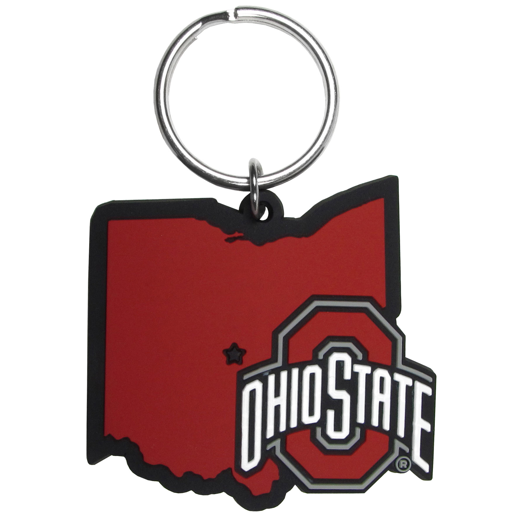 Ohio St. Buckeyes Home State Flexi Key Chain - Our flexible Ohio St. Buckeyes key chains are a fun way to carry your team with you. The pliable rubber material is extremely durable and the layered colors add a great 3D look to the key chain. This is really where quality and a great price meet to create a true fan favorite.