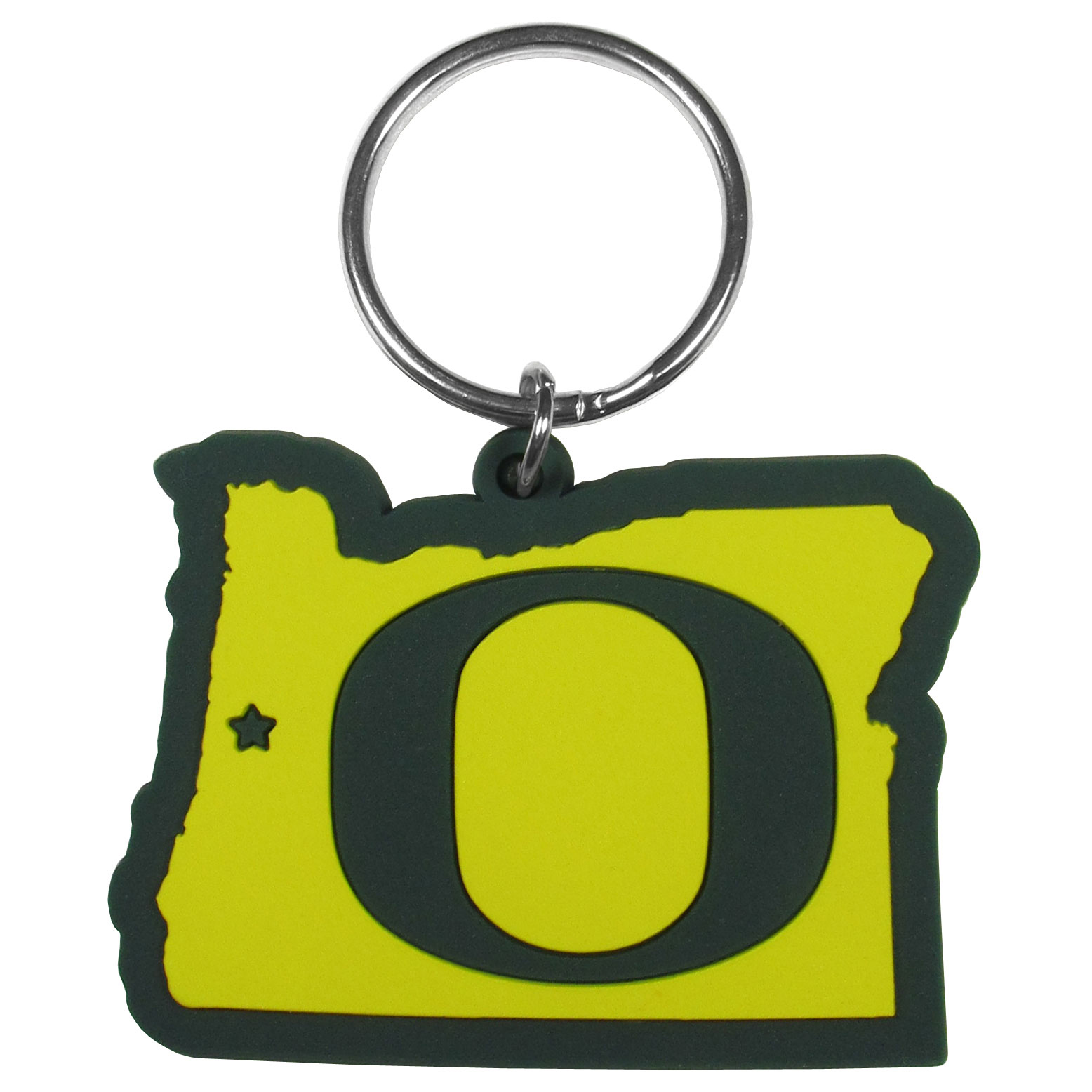 Oregon Ducks Home State Flexi Key Chain - Our flexible Oregon Ducks key chains are a fun way to carry your team with you. The pliable rubber material is extremely durable and the layered colors add a great 3D look to the key chain. This is really where quality and a great price meet to create a true fan favorite.