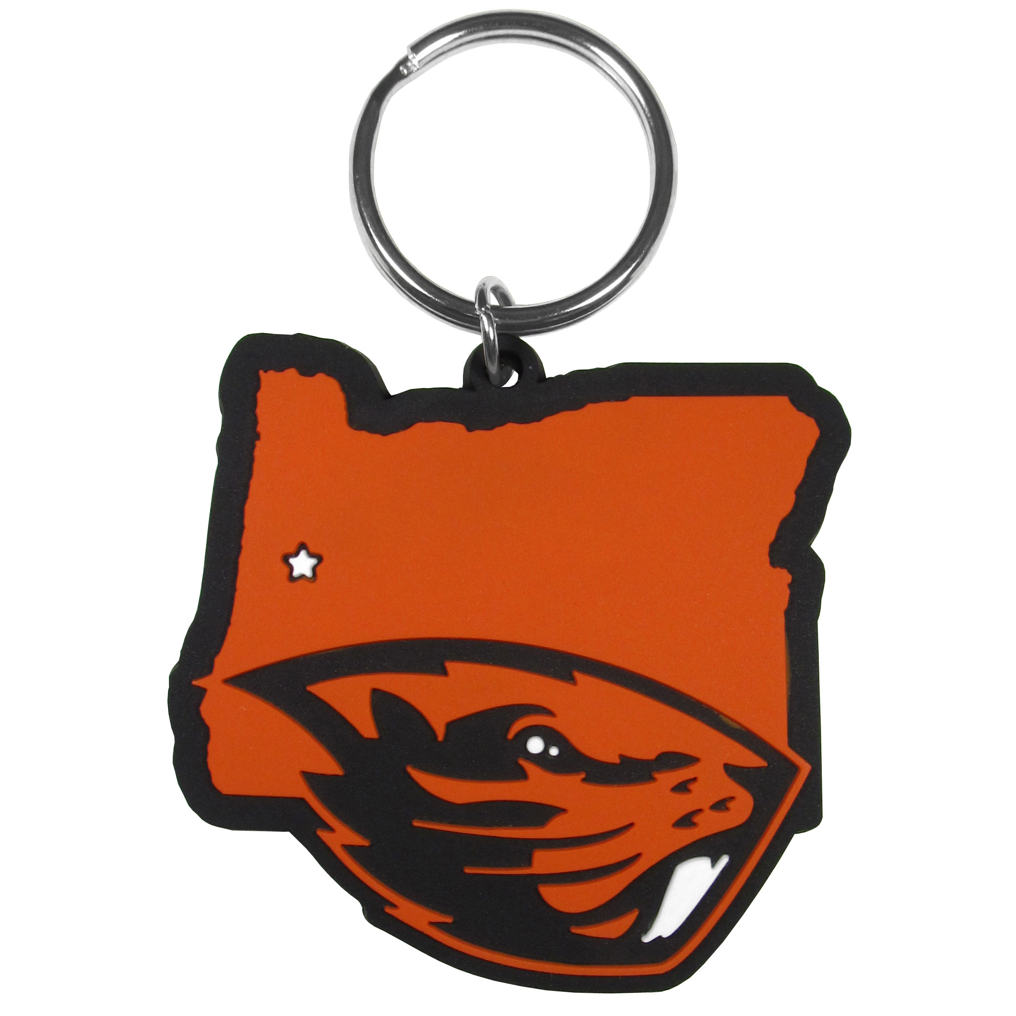 Oregon St. Beavers Home State Flexi Key Chain - Our flexible Oregon St. Beavers key chains are a fun way to carry your team with you. The pliable rubber material is extremely durable and the layered colors add a great 3D look to the key chain. This is really where quality and a great price meet to create a true fan favorite.