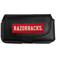Arkansas Razorbacks Smart Phone Pouch - Our Arkansas Razorbacks smart phone pouch fits most phone styles and features a magnetic flip cover for easy access. The pouch has a clip with swivel head to easily attach the pouch to belts, backpacks or purses. Thank you for shopping with CrazedOutSports.com
