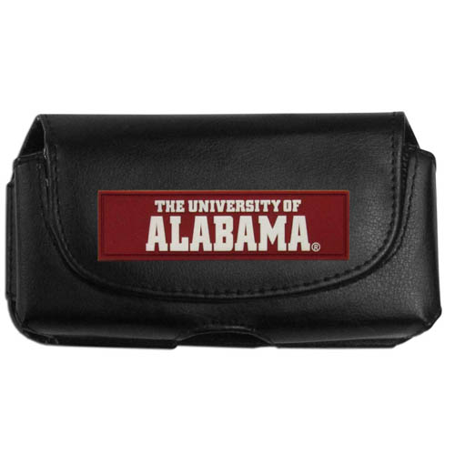 Alabama Crimson Tide Smart Phone Pouch - Our Alabama Crimson Tide officially licensed collegiate smart phone pouches are a great way to protect your phone. Their magnet flip top securely hold the phone while allowing for quick access to your device. The swivel belt clip allows you to easily attach the pouch to belts, backpack or purses. The pouch features an brightly colored school logo on the front of the pouch. Thank you for shopping with CrazedOutSports.com