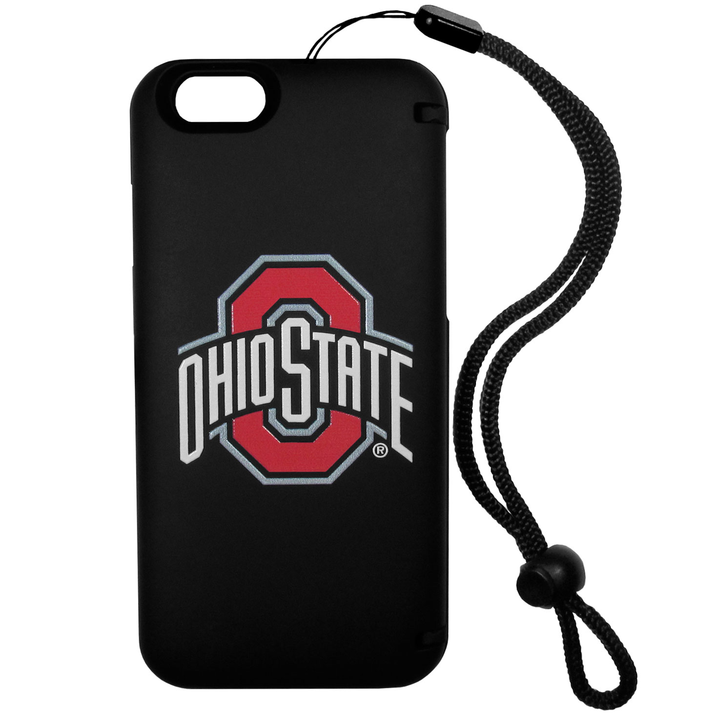 Ohio St. Buckeyes iPhone 6 Everything Case - This case really does have everything but the kitchen sink! The hidden compartment lets you keep your cards, money and tickets to the big game safe and secure and has a compact mirror so you can make sure your game face is ready to go. It also comes with a kickstand to make chatting and watching videos a breeze. The wrist strap allows you to travel with ease with your everything case. If that's not enough, it also comes with the Ohio St. Buckeyes logo printed in expert detail on the front.