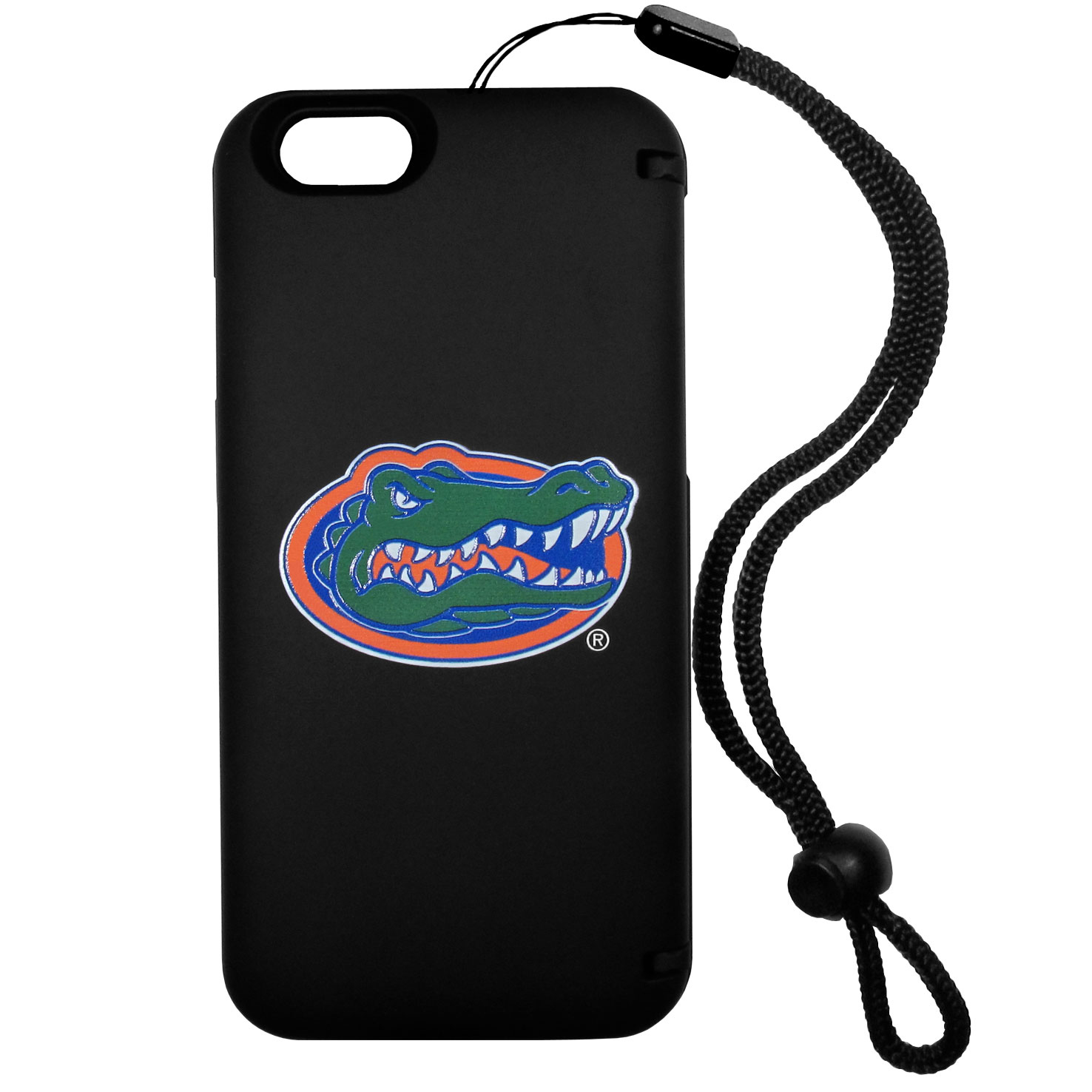 Florida Gators iPhone 6 Everything Case - This case really does have everything but the kitchen sink! The hidden compartment lets you keep your cards, money and tickets to the big game safe and secure and has a compact mirror so you can make sure your game face is ready to go. It also comes with a kickstand to make chatting and watching videos a breeze. The wrist strap allows you to travel with ease with your everything case. If that's not enough, it also comes with the Florida Gators logo printed in expert detail on the front.