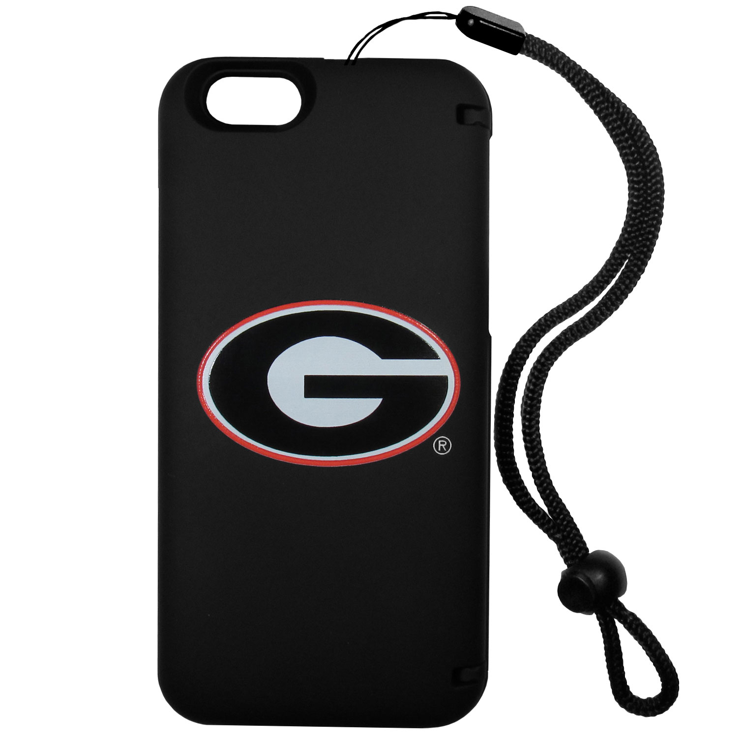 Georgia Bulldogs iPhone 6 Everything Case - This case really does have everything but the kitchen sink! The hidden compartment lets you keep your cards, money and tickets to the big game safe and secure and has a compact mirror so you can make sure your game face is ready to go. It also comes with a kickstand to make chatting and watching videos a breeze. The wrist strap allows you to travel with ease with your everything case. If that's not enough, it also comes with the Georgia Bulldogs logo printed in expert detail on the front.