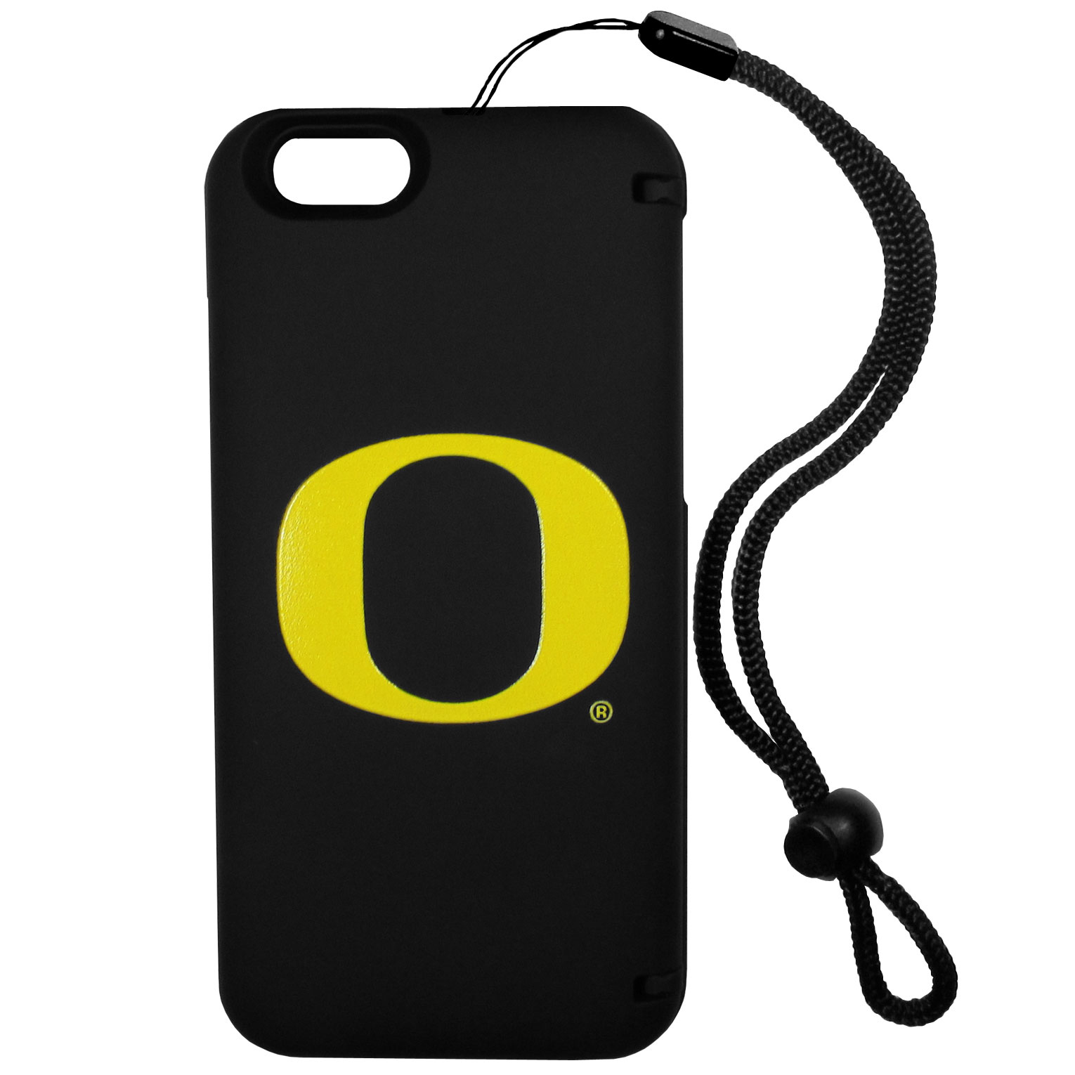 Oregon Ducks iPhone 6 Everything Case - This case really does have everything but the kitchen sink! The hidden compartment lets you keep your cards, money and tickets to the big game safe and secure and has a compact mirror so you can make sure your game face is ready to go. It also comes with a kickstand to make chatting and watching videos a breeze. The wrist strap allows you to travel with ease with your everything case. If that's not enough, it also comes with the Oregon Ducks logo printed in expert detail on the front.