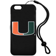 Miami Hurricanes iPhone 6 Everything Case - This case really does have everything but the kitchen sink! The hidden compartment lets you keep your cards, money and tickets to the big game safe and secure and has a compact mirror so you can make sure your game face is ready to go. It also comes with a kickstand to make chatting and watching videos a breeze. The wrist strap allows you to travel with ease with your everything case. If that's not enough, it also comes with the Miami Hurricanes logo printed in expert detail on the front.