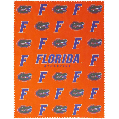 "Florida Gators iPad Microfiber Cleaning Cloth - Our collegiate Florida Gators iPad microfiber cleaning cloth is great for keeping your iPad screen free of oil, dirt and smudges. The cloth is sized to perfectly fit the iPad screen so that it lays over it as added protection when the device is in a case. 7.5"" X 9.5"" cloth. Thank you for shopping with CrazedOutSports.com"