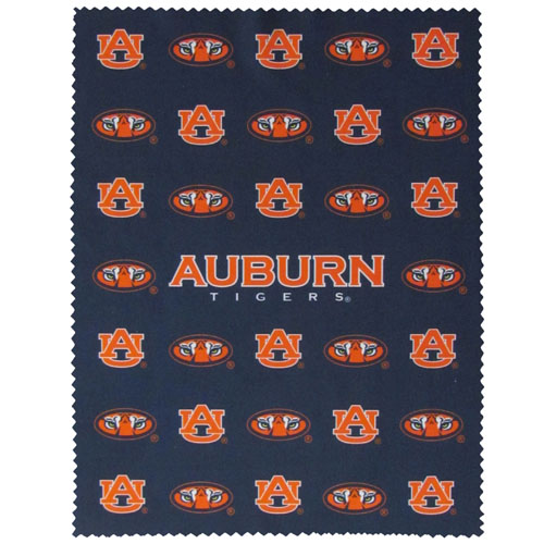 "Auburn iPad Microfiber Cleaning Cloth - Our Auburn Tigers collegiate iPad microfiber cleaning cloth is great for keeping your iPad screen free of oil, dirt and smudges. The cloth is sized to perfectly fit the iPad screen so that it lays over it as added protection when the device is in a case. 7.5"" X 9.5"" cloth. Thank you for shopping with CrazedOutSports.com"