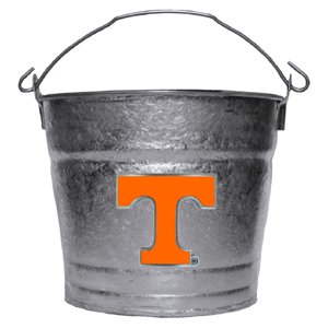 Collegiate Ice Bucket - Tennessee Volunteers - Our 1 gallon collegiate ice bucket features a metal school logo with enameled finish. The bucket is the perfect tailgating accessory or backyard BBQ. Thank you for shopping with CrazedOutSports.com