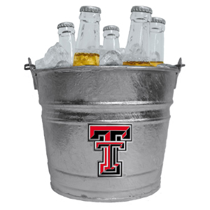 Collegiate Ice Bucket - Texas Tech Raiders - Our 1 gallon collegiate ice bucket features a metal school logo with enameled finish. The bucket is the perfect tailgating accessory or backyard BBQ. Thank you for shopping with CrazedOutSports.com