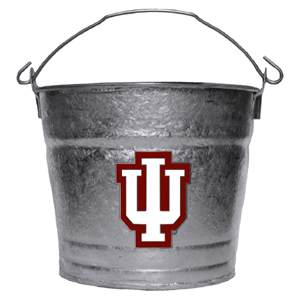 Collegiate Ice Bucket - Indiana Hoosiers - This Indiana Hoosiers 1 gallon collegiate ice bucket features a metal school logo with enameled finish. The bucket is the perfect tailgating accessory or backyard BBQ. Thank you for shopping with CrazedOutSports.com