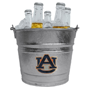 Collegiate Ice Bucket - Auburn Tigers - Our 1 gallon collegiate ice bucket features a metal Auburn Tigers school logo with enameled finish. The bucket is the perfect tailgating accessory or backyard BBQ. Thank you for shopping with CrazedOutSports.com