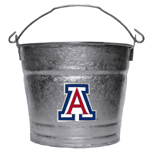 Collegiate Ice Bucket - Arizona Wildcats - Our Arizona Wildcats 1 gallon collegiate ice bucket features a metal Arizona Wildcats school logo with enameled finish. The bucket is the perfect tailgating accessory or backyard BBQ. Thank you for shopping with CrazedOutSports.com
