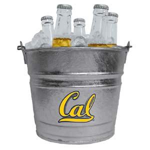 Collegiate Ice Bucket - Cal Berkeley Bears - Our 1 gallon collegiate ice bucket features a metal Cal Berkeley Bears logo with enameled finish. The bucket is the perfect tailgating accessory or backyard BBQ. Thank you for shopping with CrazedOutSports.com
