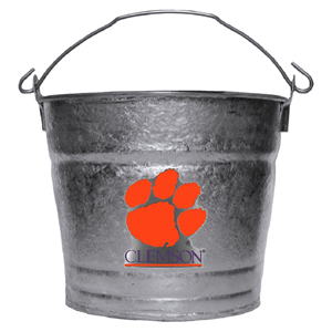 Collegiate Ice Bucket - Clemson Tigers - Our 1 gallon collegiate ice bucket features a metal Clemson Tigers school logo with enameled finish. The bucket is the perfect tailgating accessory or backyard BBQ. Thank you for shopping with CrazedOutSports.com