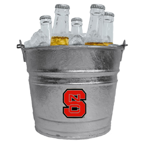 Collegiate Ice Bucket - N. Carolina St. Wolfpack - Our 1 gallon collegiate ice bucket features a metal school logo with enameled finish. The bucket is the perfect tailgating accessory or backyard BBQ. Thank you for shopping with CrazedOutSports.com