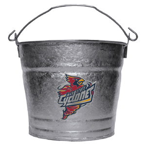 Collegiate Ice Bucket - Iowa St. Cyclones - This Iowa St. Cyclones 1 gallon collegiate ice bucket features a metal school logo with enameled finish. The bucket is the perfect tailgating accessory or backyard BBQ. Thank you for shopping with CrazedOutSports.com