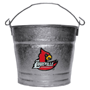 Collegiate Ice Bucket - Louisville Cardinals - This Louisville Cardinals 1 gallon collegiate ice bucket features a metal school logo with enameled finish. The bucket is the perfect tailgating accessory or backyard BBQ. Thank you for shopping with CrazedOutSports.com