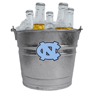 Collegiate Ice Bucket - N. Carolina Tar Heels - Our 1 gallon collegiate ice bucket features a metal school logo with enameled finish. The bucket is the perfect tailgating accessory or backyard BBQ. Thank you for shopping with CrazedOutSports.com