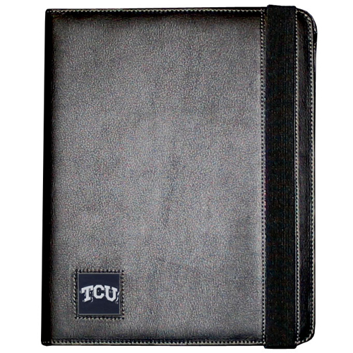 TCU iPad Case - The perfect iPad accessory. The black case hold the iPad 1 and the iPad 2 with Smart Cover and features a cast and enameled school emblem. Thank you for shopping with CrazedOutSports.com