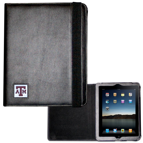 Texas A and M iPad Case - The perfect iPad accessory. The black case hold the iPad 1 and the iPad 2 with Smart Cover and features a cast and enameled school emblem. Thank you for shopping with CrazedOutSports.com