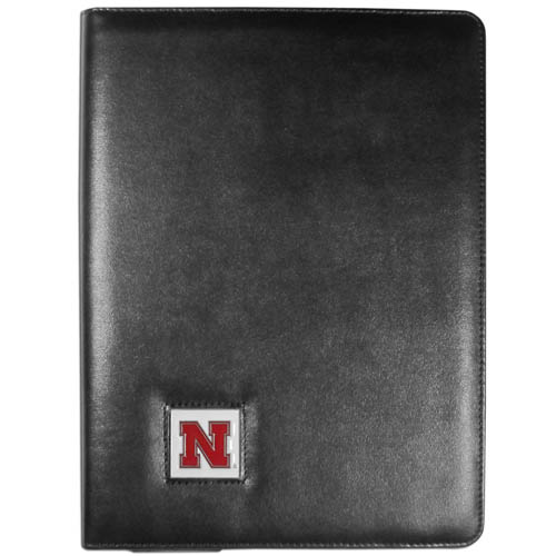 Nebraska iPad Case - The perfect iPad accessory. The black case hold the iPad 1 and the iPad 2 with Smart Cover and features a cast and enameled school emblem. Thank you for shopping with CrazedOutSports.com