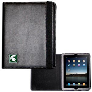 Michigan St. Spartans iPad 1and iPad 2 Case - Michigan St. Spartans iPad 1and iPad 2 Case is the perfect iPad accessory. The black Michigan St. Spartans iPad 1and iPad 2 Case holds the iPad 1 and the iPad 2 with Smart Cover and features a cast and enameled school emblem. Thank you for shopping with CrazedOutSports.com