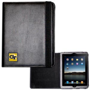 Georgia Tech iPad Case - The perfect iPad accessory. The black case hold the iPad 1 and the iPad 2 with Smart Cover and features a cast and enameled school emblem. Thank you for shopping with CrazedOutSports.com