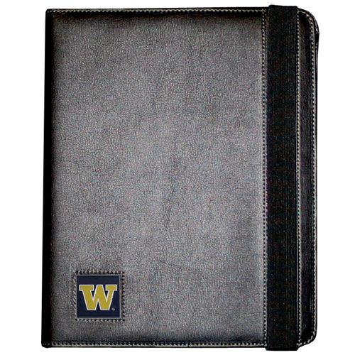 Washington iPad Case - The perfect iPad accessory. The black case hold the iPad 1 and the iPad 2 with Smart Cover and features a cast and enameled school emblem. Thank you for shopping with CrazedOutSports.com