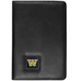 Washington Huskies iPad Air Folio Case - This attractive Washington Huskies iPad Air folio case provides all over protection for your tablet while allowing easy flip access. The cover is designed to allow you to fully utilize your tablet without ever removing it from the padded, protective cover. The enameled team emblem makes this case a great way to show off your team pride! Thank you for shopping with CrazedOutSports.com