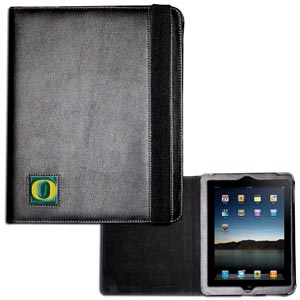 Oregon iPad Case - The perfect iPad accessory. The black case hold the iPad 1 and the iPad 2 with Smart Cover and features a cast and enameled school emblem. Thank you for shopping with CrazedOutSports.com