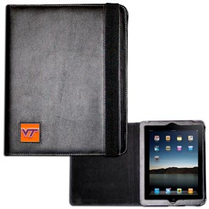 Virginia Tech iPad Case - The perfect iPad accessory. The black case hold the iPad 1 and the iPad 2 with Smart Cover and features a cast and enameled school emblem. Thank you for shopping with CrazedOutSports.com