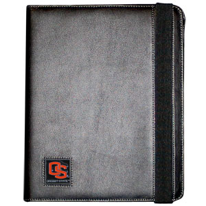 Oregon St. iPad Case - The perfect iPad accessory. The black case hold the iPad 1 and the iPad 2 with Smart Cover and features a cast and enameled school emblem. Thank you for shopping with CrazedOutSports.com