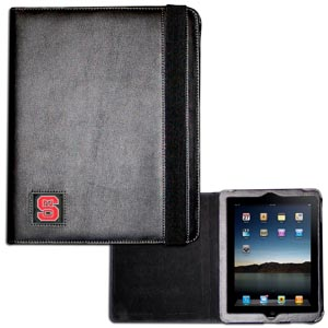 N. Carolina St.iPad Case - The perfect iPad accessory. The black case hold the iPad 1 and the iPad 2 with Smart Cover and features a cast and enameled school emblem. Thank you for shopping with CrazedOutSports.com
