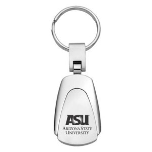 Arizona State Sun Devils Key Chain - Officially licensed Arizona State Sun Devils collegiate key ring with a classic chrome finish and laser etched logo.  Thank you for shopping with CrazedOutSports.com