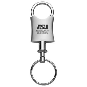 Arizona State Sun Devils Valet Key Chain - Officially licensed Arizona State Sun Devils collegiate key ring with a classic chrome finish and laser etched logo and detachable connector.  Thank you for shopping with CrazedOutSports.com