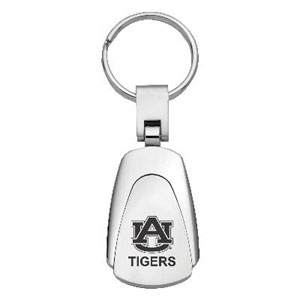 Auburn Tigers Key Chain - Officially licensed collegiate key ring with a classic chrome finish and laser etched Auburn Tigers logo.  Thank you for shopping with CrazedOutSports.com