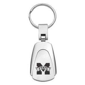 Mississippi St Bulldogs Key Chain - Officially licensed collegiate key ring with a classic chrome finish and laser etched logo.  Thank you for shopping with CrazedOutSports.com