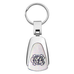 NC Tar Heels Key Chain - Officially licensed collegiate key ring with a classic chrome finish and laser etched logo.  Thank you for shopping with CrazedOutSports.com