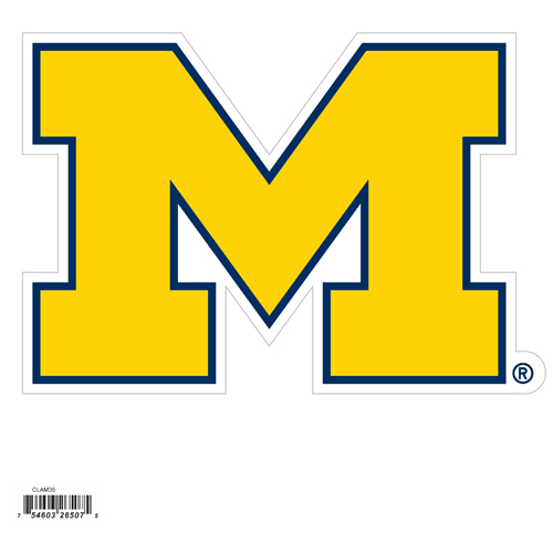 "Michigan Wolverines 8"" Logo Magnet - Make sure everyone knows your are a fan with our big Michigan Wolverines 8"" Logo Magnet. This officially licensed Michigan Wolverines 8"" Logo Magnet will stick to any magnetic metal and is outdoor rated! Michigan Wolverines 8"" Logo Magnet is perfect for game day and everyday! Thank you for shopping with CrazedOutSports.com"