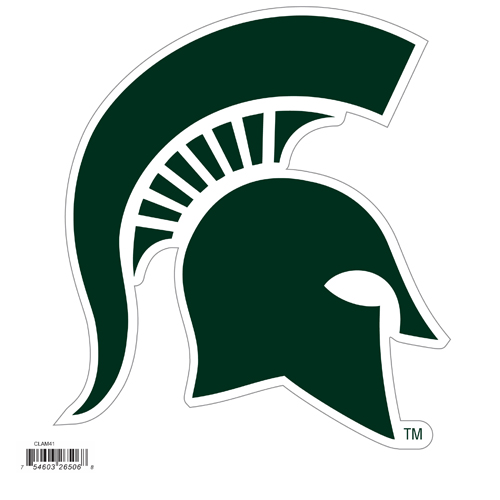 Michigan St. Spartans 8 inch Logo Magnet - Make sure everyone knows your are a fan with this Michigan St. Spartans 8 inch Logo Magnet. This officially licensed Michigan St. Spartans 8 inch Logo Magnet stick to any magnetic metal and our outdoor rated! Michigan St. Spartans 8 inch Logo Magnet is perfect for game day and everyday! Thank you for shopping with CrazedOutSports.com