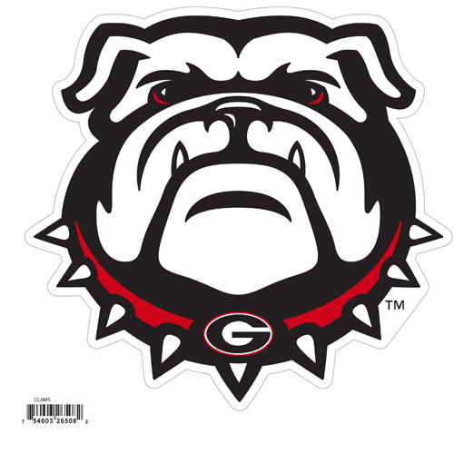 "Georgia Bulldogs 8"" Logo Magnet - Make sure everyone knows your are a fan with our big 8"" logo magnets. These officially licensed magnets stick to any magnetic metal and our outdoor rated! Perfect for game day and everyday! Thank you for shopping with CrazedOutSports.com"